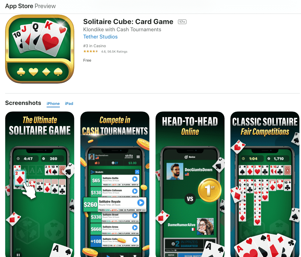 make money playing solitaire cube